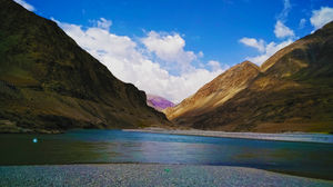 Ladakh  Indus river & zanskar River meets A this is point Indus & zanskar River  Phone photography..