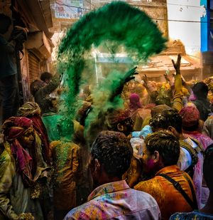 Rain of colours in barsana . . . @tripotocommunity #besttravelpictures