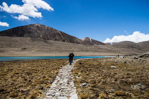 The Walk way, gurudongmar lake, sikkim #BestTravelPictures