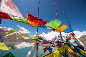 Prayer flags???? gurudongmar lake #BestTravelPictures