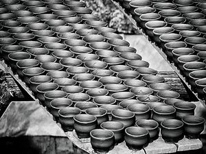 Small clay pots, usually used for drinking tea in India  #besttravelpictures