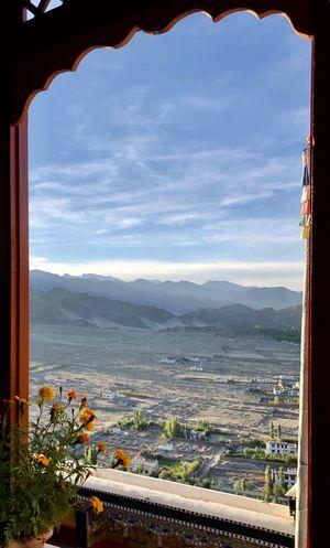 Views at dawn-Thiksey monastery #ViewFromTheTop #tripotocommunity