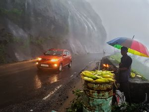 """The Car, The rain & the hot jowar"" in malshej ghat, maharashtra, India #besttravelpictures"