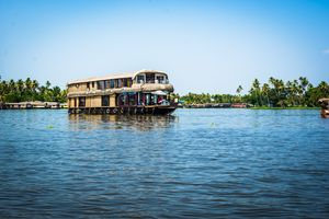 A home that floats  #BestTravelPictures #kerala #BoatHouse #Float #Blue #BackWater #peace