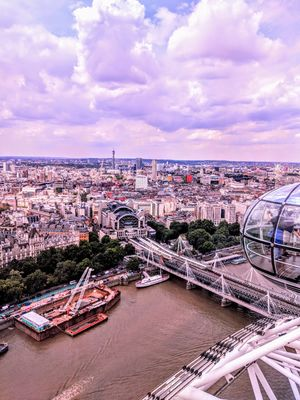 The Majestic View from the top of London Eye! #ViewFromTheTop