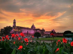 Mans architecture with bliss of sunset..!!