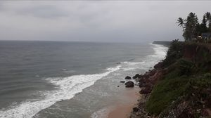 #beach #cliff #varkala #kerala #solotravel