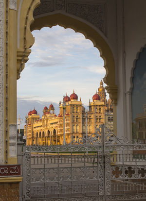 The Magnificent Mysore Palace in the first rays of sun. Golden hour.  #BestTravelPictures