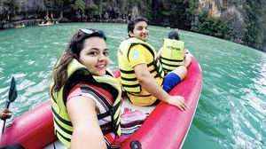Kayaking in the rains is just so beautiful  #SelfieWithAView  #TripotoCommunity