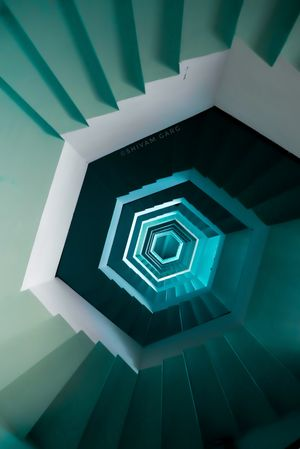 SPIRAL - the view from the bottom of a lighthouse