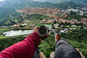 A place to view The Amer City Palace ! [Near Jaipur] Rajasthan#luxurygetaway