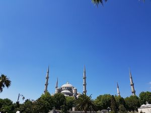 Shot of the Blue Mosque from our recent visit to Istanbul.  @tripotocommunity