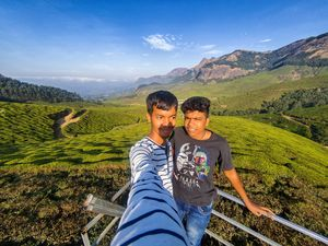 SelfieWithAView #TripotoCommunity In the midst of an amazing tea plantation