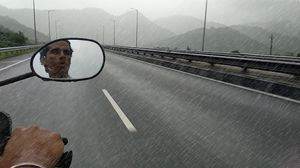 Singing while riding in rain is really a spark.