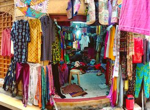 A tiny textile shop to look for in the alleys of Jaisalmer without spending an extravagant amount