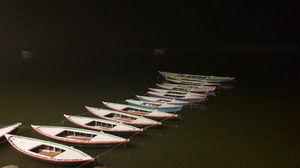Varanasi boat night