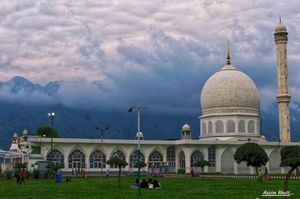 The Hazratbal Shrine, is a Muslim shrine in Hazratbal, Srinagar, Jammu & Kashmir.