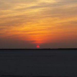 Sunset at rann