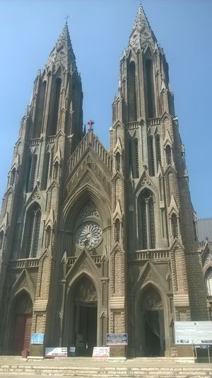 "The Cathedral where film, ""Amar Akbar Anthony"" was shot."