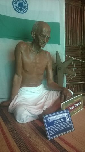 Wax Statue of 'The Father of the Nation' , Mahatma Gandhi in Madame Tussaud of Bengaluru.