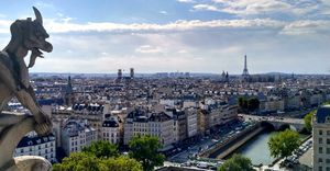 The view of the French capital from the bell tower of Cathedral of Notre Dame.  #BestTravelPictures