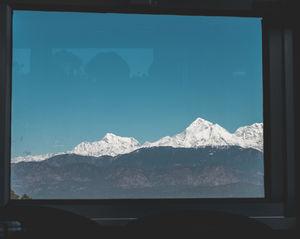 Spectacular Garhwal range of Himalayas, Kausani.