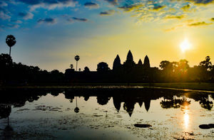 Sunrise reflections at Angkor Wat, Cambodia. #BestTravelPictures