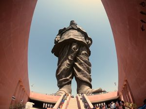 Statue of unity from a wide angle