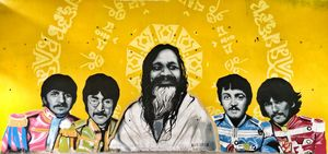"Wall of an artistic ashram ""Beatles Ashram"" #streettalk"