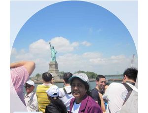 Enjoying the ride with all nationalities in New York.  #SelfieWithAView #TtipotoCommunity