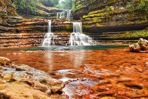 Triple decker waterfall....i was in awe seeing it wiimy own eyes amazing waterfalls..!