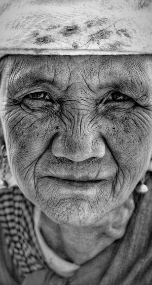 Portrait of an Old lady from a Small village of Shillong, Meghalaya.