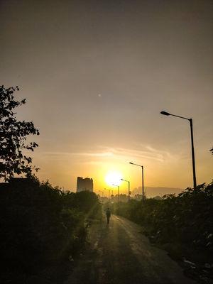 a morning walk to witness the beauty of Sahyadris 'Kalavantin Durg & Prabalgad are in background'