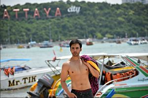 Enjoying pattaya summer at the jomtein beach