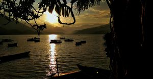 Phewa lake is Nepal's second largest lake. Often the center of focus for a trip to Pokhara.