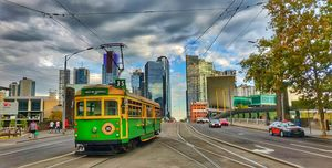 The oldest tram in city of melbourne...
