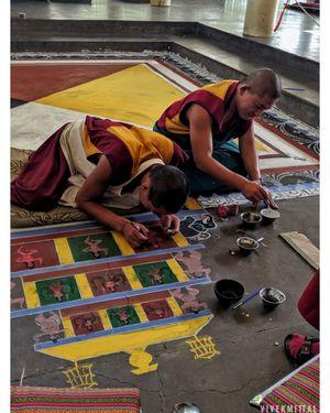 The monk life at dalai lama temple