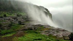 Breathtaking Beauty--Naneghat Reverse Waterfall!