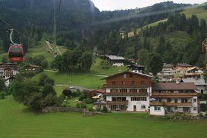 Kitzbühel, the skiing resort of Alps (Austria)