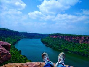 Grand Canyon of India.. Vindhyanchal Ranges and Chambal River flowing below it..