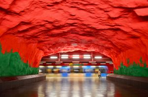 #BestTravelPictures Solna Centrum, one of the beautiful station of the Stockholm Tunnelbana (subway)