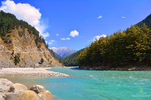 Harsil, a small village in Garhwal Himalaya..