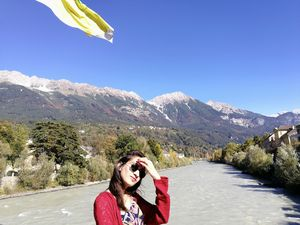The beautiful Alps behind have my heart ❤️ #SelfieWithAView #TripotoCommunity