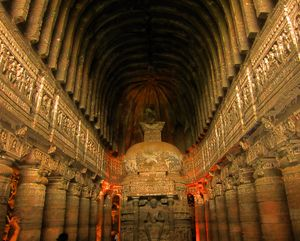 The Ajanta Caves Paintings Story & Travelling Tips  Ajanta caves.