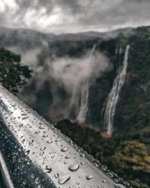 Raindrops and Waterfall.