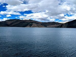 This is the view of Pangong Tso lake in Leh.. one of the best view's anyone can.
