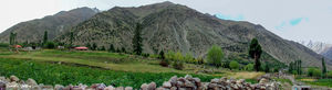 Panoramic view of Rupal Valley