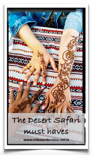 Marhaba Dubai : The Desert Safari must haves