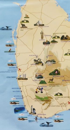 An itinerary for Sri Lanka