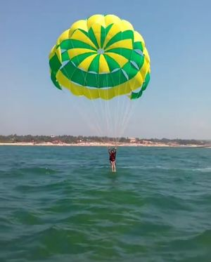 First experience of parasailing being an acrophobic #adventureactivity